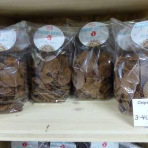 Bigood chips proposées au magasin de la ferme de Keroudy