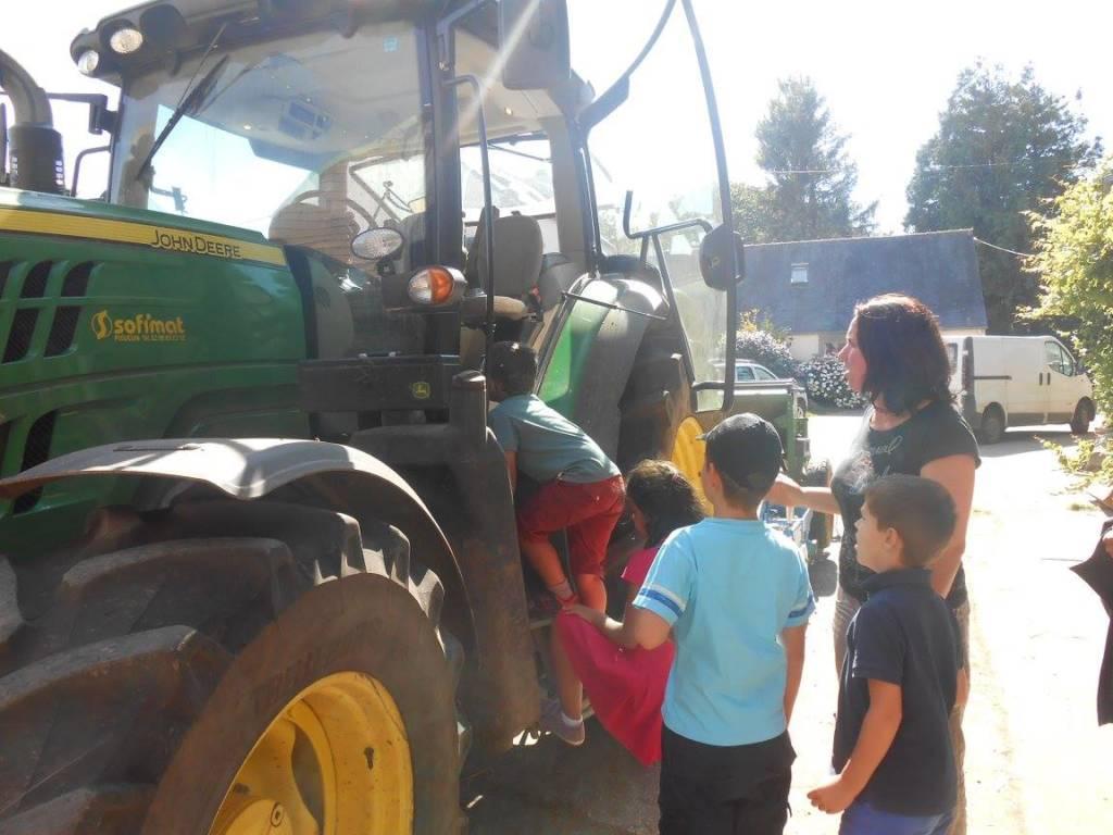 visite guidée à la ferme de Keroudy