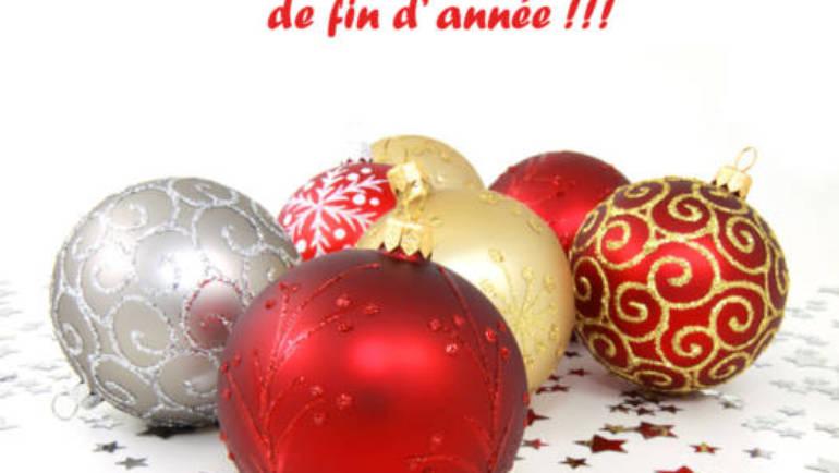 Fermeture pour congés de Noël
